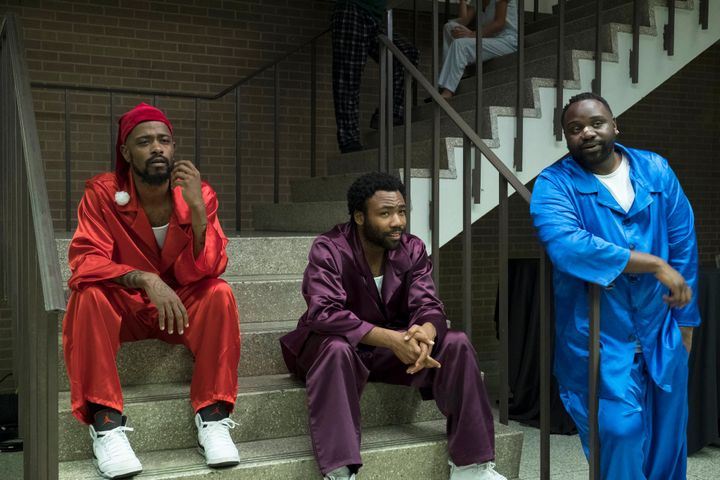 "Lakeith Stanfield, Donald Glover and Brian Tyree Henry in ""Atlanta"""