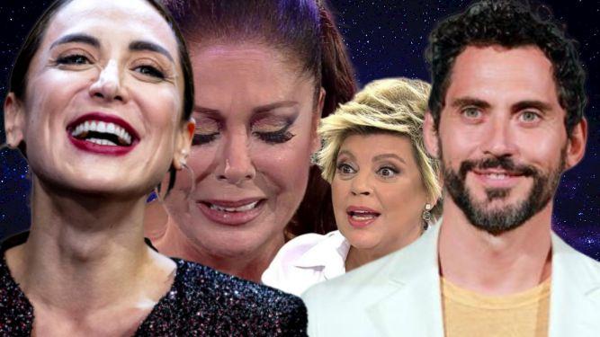 Tamara Falcó, Isabel Pantoja, Terelu Campos y Paco León.