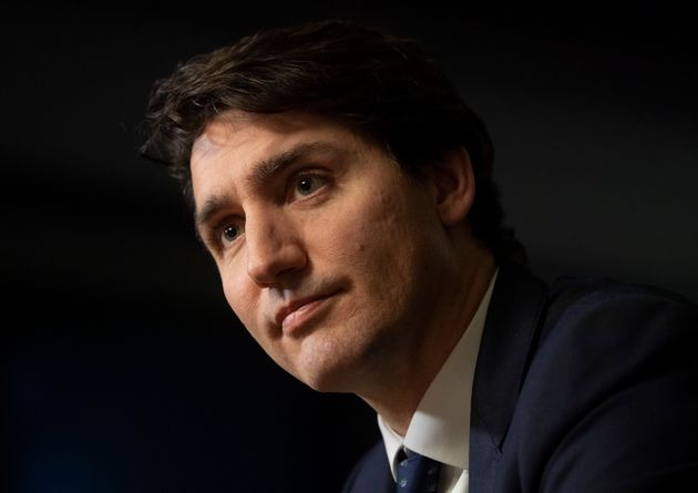Prime Minister Justin Trudeau speaks with The Canadian Press during a year end interview in West Block...