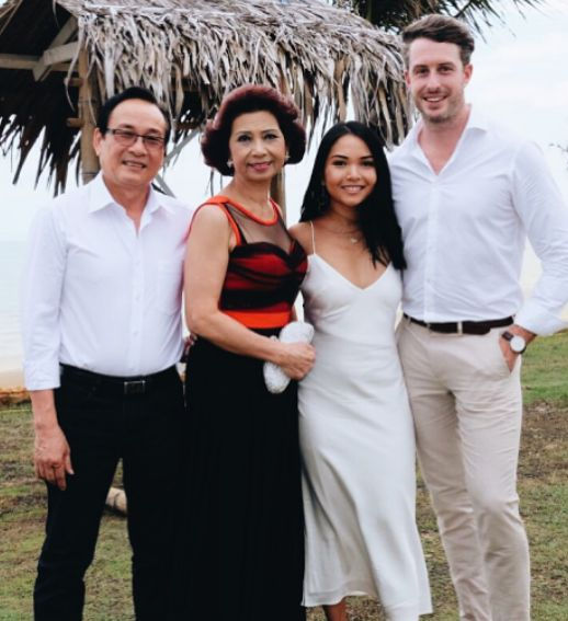 Jody with her parents and husband.