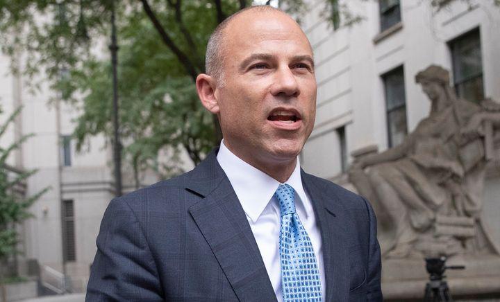 Attorney Michael Avenatti leaves Manhattan Federal court, Tuesday, Oct. 8, 2019, in New York.