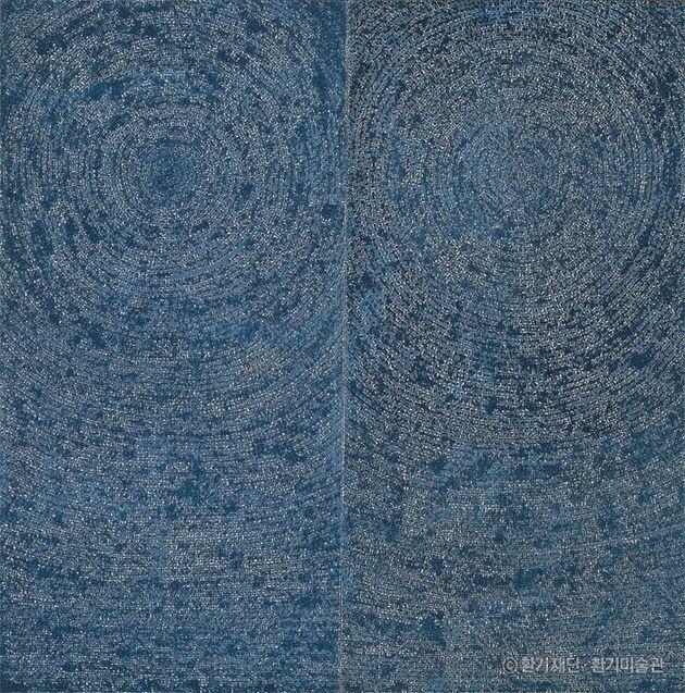 김환기_우주Universe 5-IV-71 #200, 코튼에 유채, 254 x 254cm,