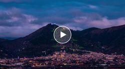 È italiano l'albero di Natale più grande del mondo. Il monte s'illumina di mille luci