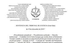 Consulta la sentencia íntegra de la justicia europea sobre la inmunidad de Oriol