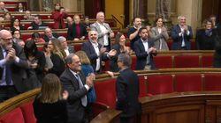 Euforia en ERC y JxCat en el Parlament tras el fallo del tribunal de