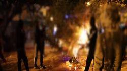 Βίντεο της πυρπόλησης του χριστουγεννιάτικου δέντρου στα