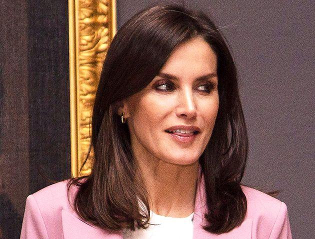La reina Letizia en el Palacio Real de Madrid el 17 de diciembre de