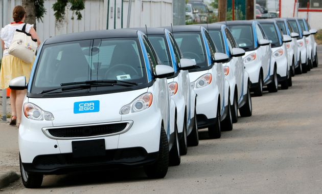A Car2Go vehicle is seen here in Calgary in July 2015. The car-sharing service says it will shutter operations...