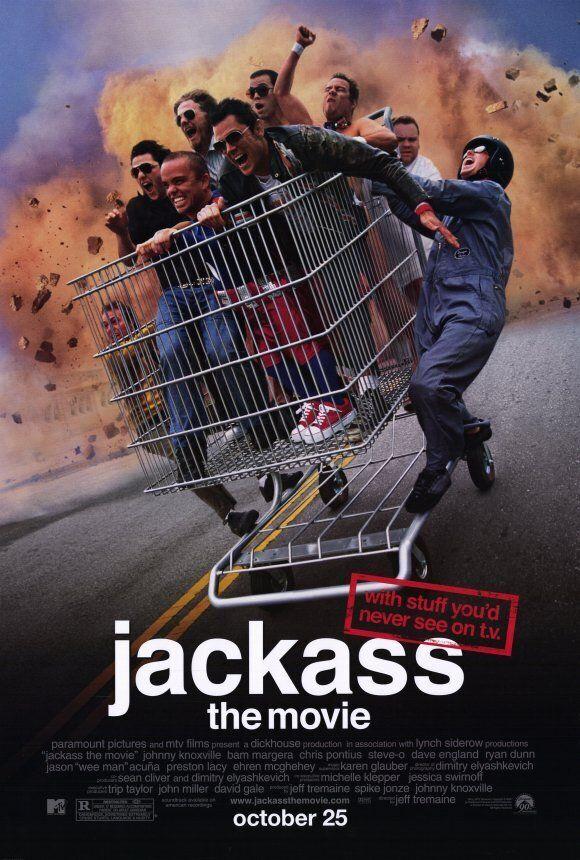L'affiche du premier film «Jackass», paru en
