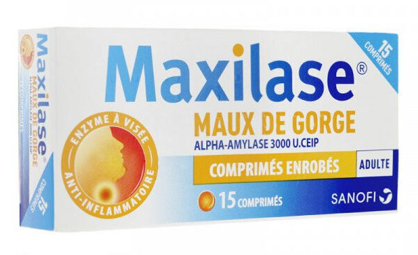 Les risques en ce qui concerne le Maxilase et autre comprimés semblables sont liés à...