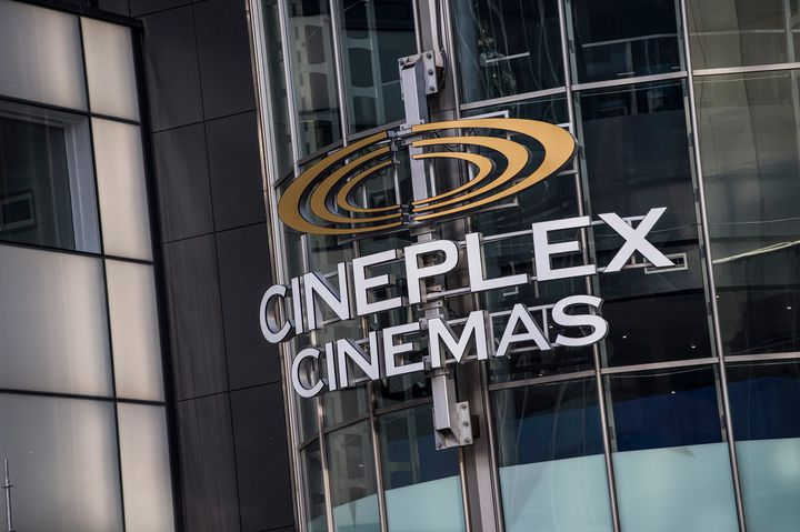 A Cineplex movie theatre is seen here in midtown Toronto on Dec. 16, 2019. The cinema chain represents 75 per cent of movie theatres in Canada.