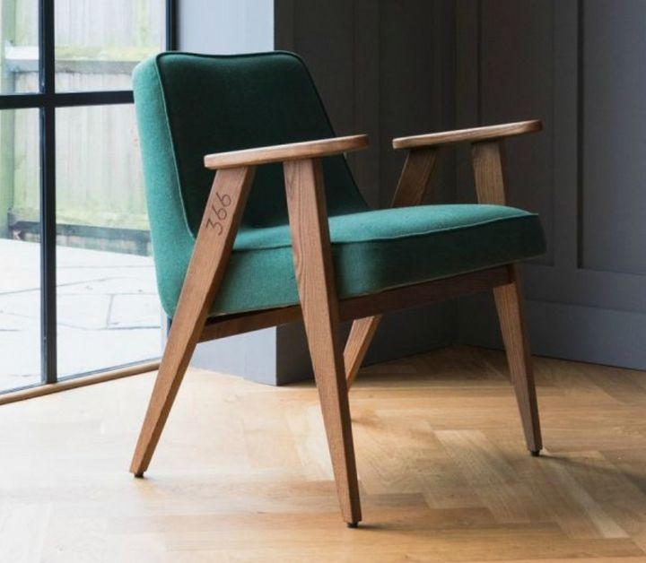 """<a href=""""https://www.roseandgrey.co.uk/jozef-chierowski-366-easy-chair-velvet-11-colours-available-1"""">Jozef Chierowski, Rose and Grey</a>, &pound;475"""