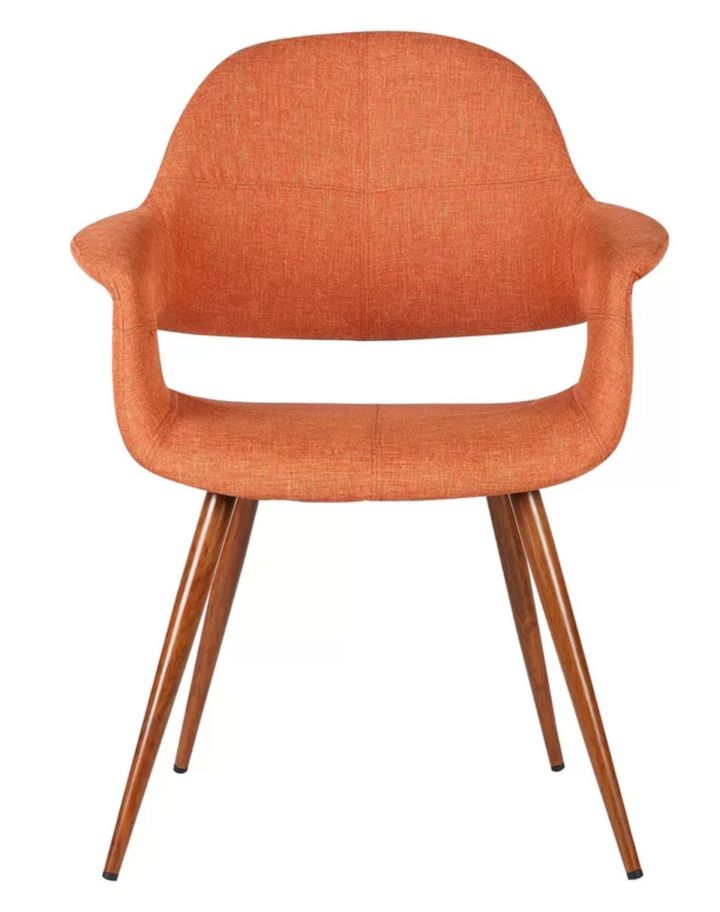 """<a href=""""https://www.wayfair.co.uk/furniture/pdp/george-oliver-gerald-upholstered-dining-chair-u000147791.html"""">Orange dining chair, Wayfair,&nbsp;</a>&pound;109.99"""