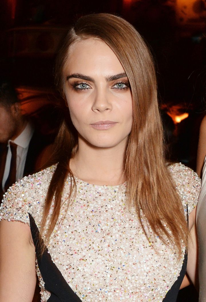 Cara Delevingne at the British Fashion Awards in London on Dec. 1, 2014.