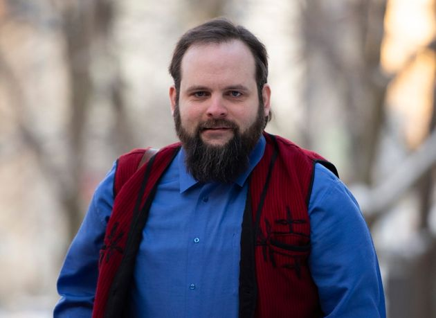 Joshua Boyle is seen here outside a courthouse in Ottawa on Thursday. Boyle and his wife, Caitlan Coleman,...