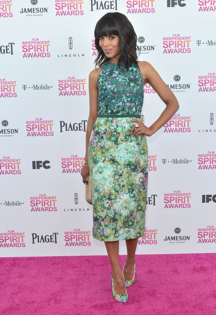 Kerry Washington at the Film Independent Spirit Awards in Santa Monica, California, on Feb. 23, 2013.