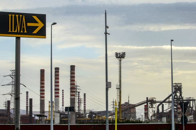TARANTO, PUGLIA, ITALY - 2019/11/16: A view of the ILVA steelworks, owned by ArcelorMittal that threatened...