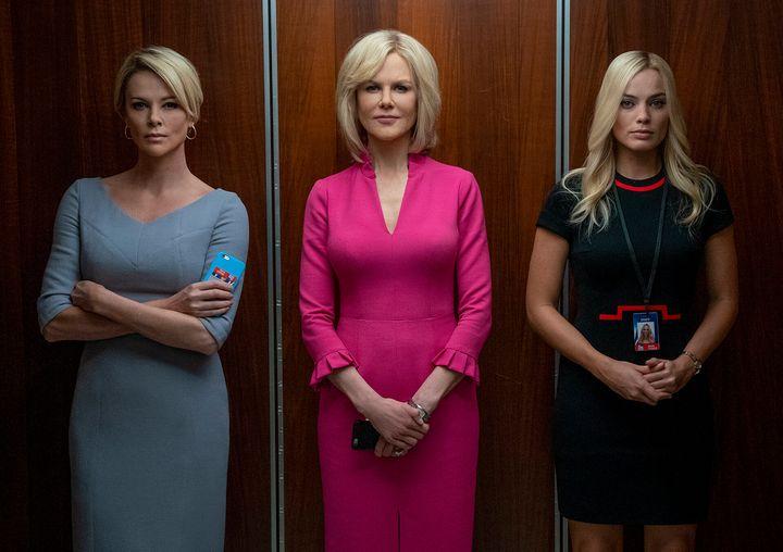 Charlize Theron, Nicole Kidman et Margot Robbie dans <em>Scandale</em> (<em>Bombshell</em>).