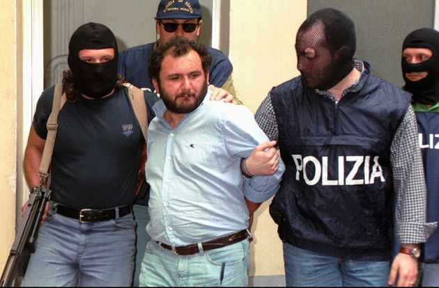 Giovanni Brusca, 36, one of Italy's most wanted fugitives, who is considered a top figure in the Mafia...