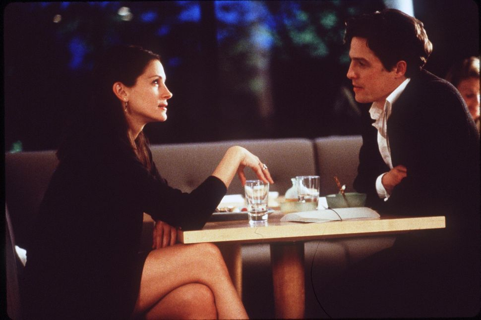 """Julia Roberts and Hugh Grant in 1999's """"Notting Hill."""""""