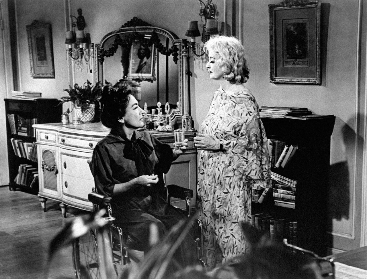 """Joan Crawford and Bette Davis in 1962's """"What Ever Happened to Baby Jane?"""""""