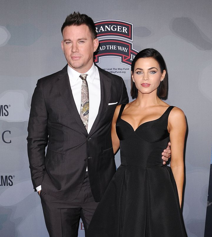 Channing Tatum and Jenna Dewan pictured together at their last public appearance as a couple.