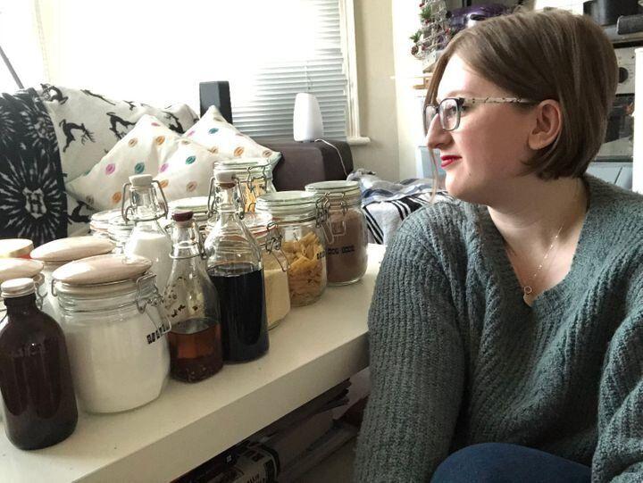 Ellie Pilcher et ses achats zéro déchet.