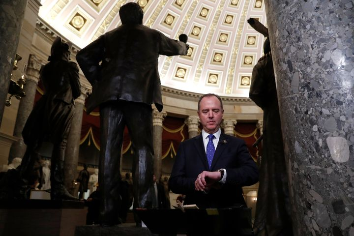 House Intelligence Committee Chairman Adam Schiff (D-Calif.) on Wednesday after the House of Representatives voted to impeach