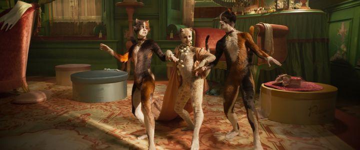 """Naoimh Morgan, Francesca Hayward and Danny Collins in """"Cats."""""""