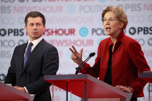Sen. Elizabeth Warren (D-Mass.) took on South Bend, Indiana, Mayor Pete Buttigieg during the presidential...