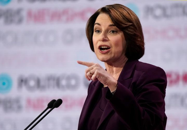 Sen. Amy Klobuchar criticizes Pete Buttigieg's experience at the Los Angeles debate Thursday.