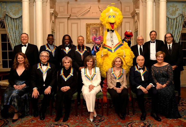 2019 Kennedy Center Honorees gather for a group photo (seated, L-R) Susan Pompeo, conductor Michael Tilson...