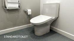 직원들이 화장실을 오래 쓰기 불편하게 만드는 변기가