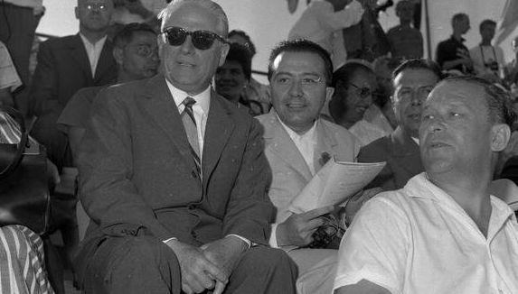 Giulio Andreotti alle Olimpiadi di Roma nel