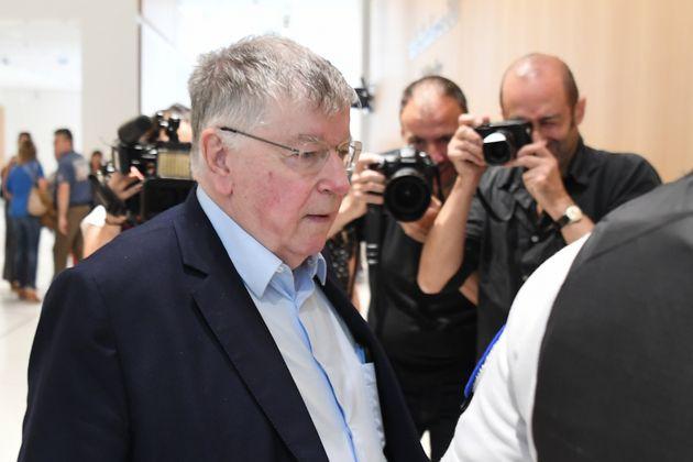 L'ancien PDG de France Télécom Didier Lombard, ici arrivant au palais de justice de Paris...
