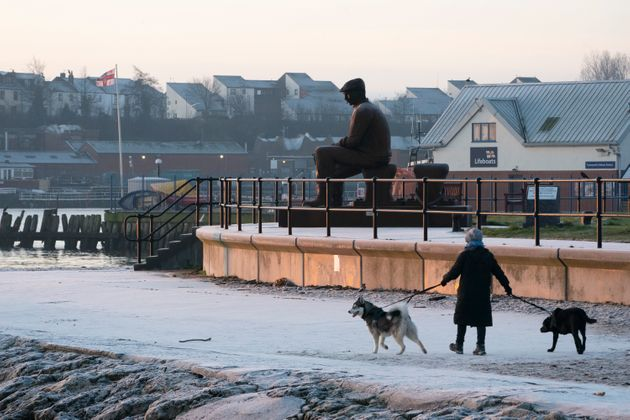 A winter's frosty morning on the Fish Quay in North Shields. (Photo by Owen Humphreys/PA Images via Getty Images)
