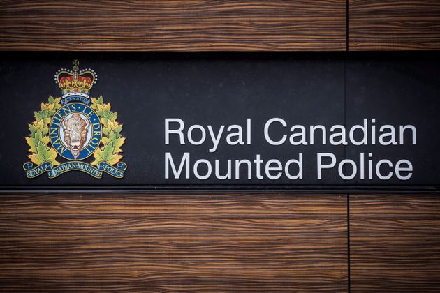 The RCMP logo is seen here in Surrey, B.C., on April 13, 2018.
