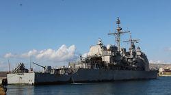 USS Leyte Gulf: Ενα αμερικανικό «πλωτό φρούριο» στο λιμάνι του