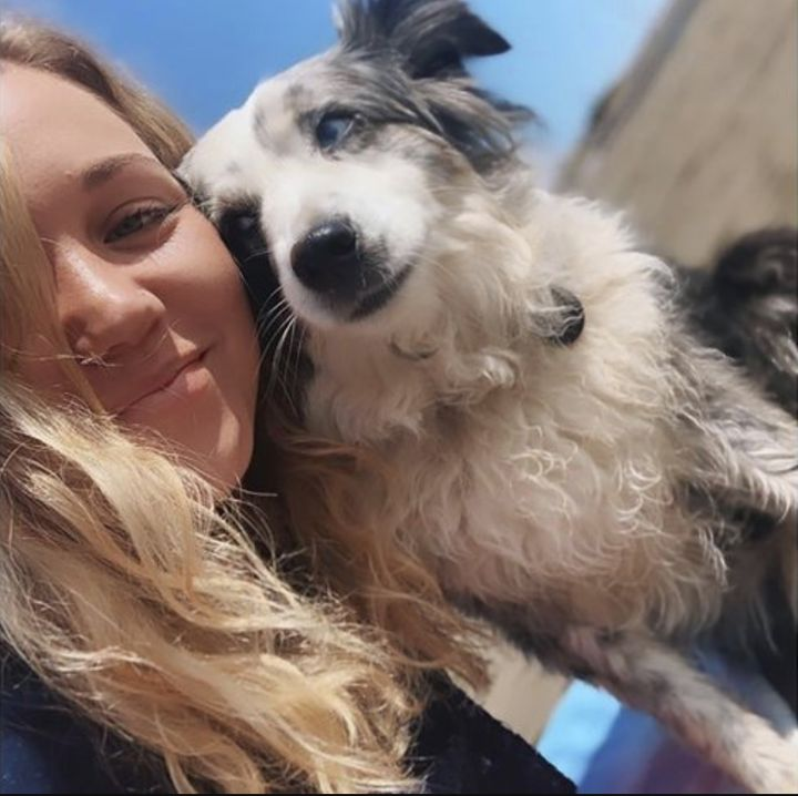 Emilie Talermo and her dog Jackson
