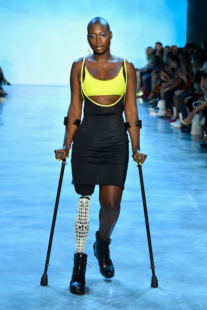 Cacsmy Brutus, also known as Mama Cax, walks the runway for Chromat during New York Fashion Week: The Shows at Gallery I at S