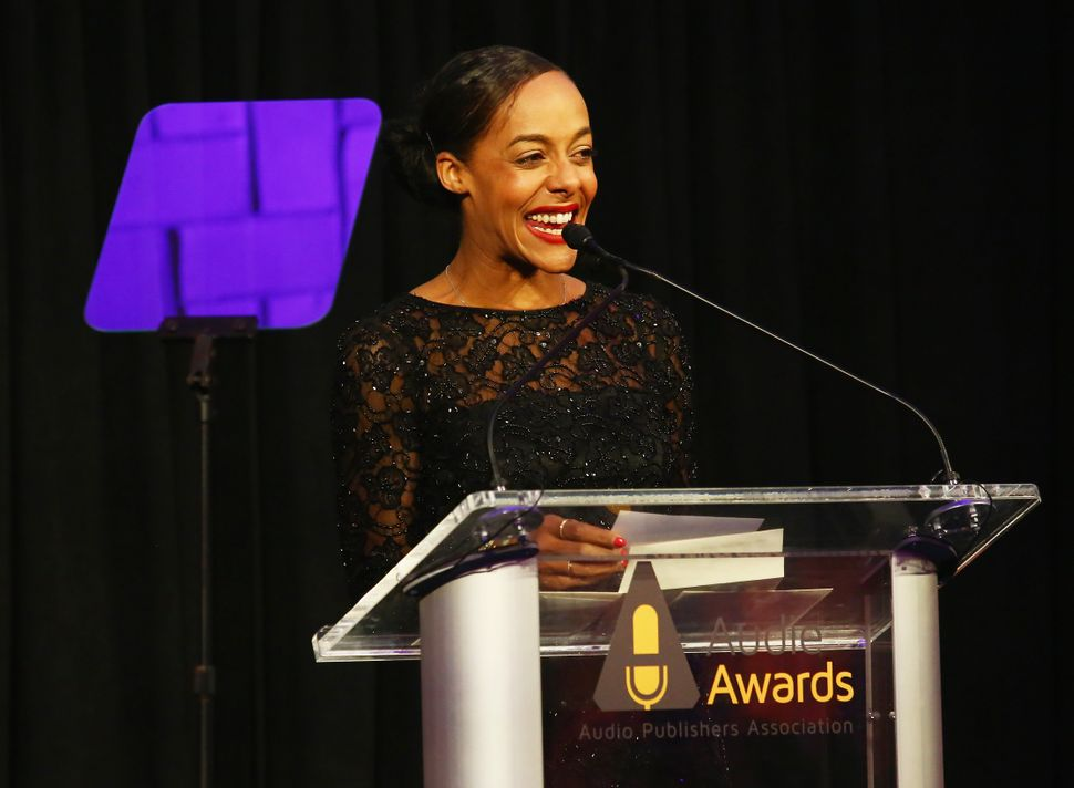 NEW YORK, NY - MARCH 04: Lisa Lucas speaks onstage as Tan France hosts the 2019 Audie Awards at Gustavino's...