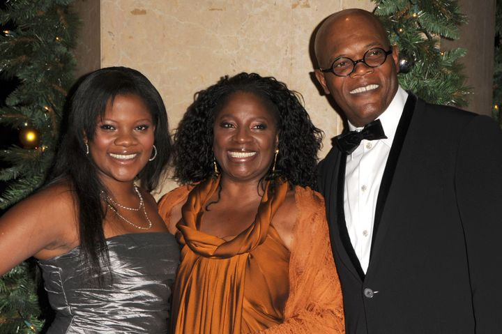 Samuel L. Jackson and his wife and daughter arrive at the 23rd Annual American Cinematheque Awards on Dec. 1, 2008, in Beverly Hills, California.
