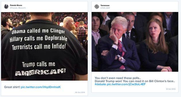 Twitter a publié des exemples de messages postés par des comptes impliqués dans