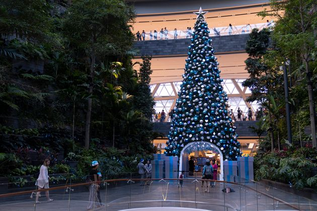 SINGAPORE, SINGAPORE - DECEMBER 20: A 16-metre tall Christmas tree stand on display, part of Christmas...