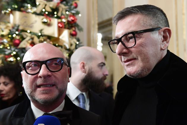 Italian fashion designers Domenico Dolce (L) and Stefano Gabbana arrive for the Great Opening Night 2019...