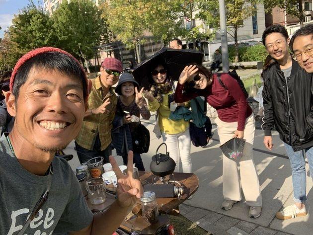 韓国でのフリーコーヒーからの一コマ