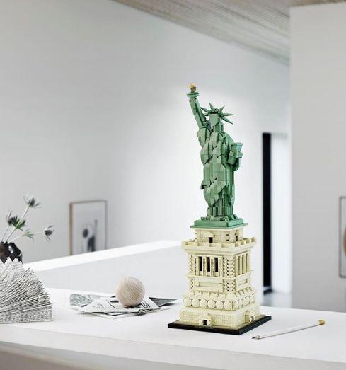 """""""La statue de la liberté"""", un set de Lego Architecture, l'une des gammes pensées pour les adultes."""