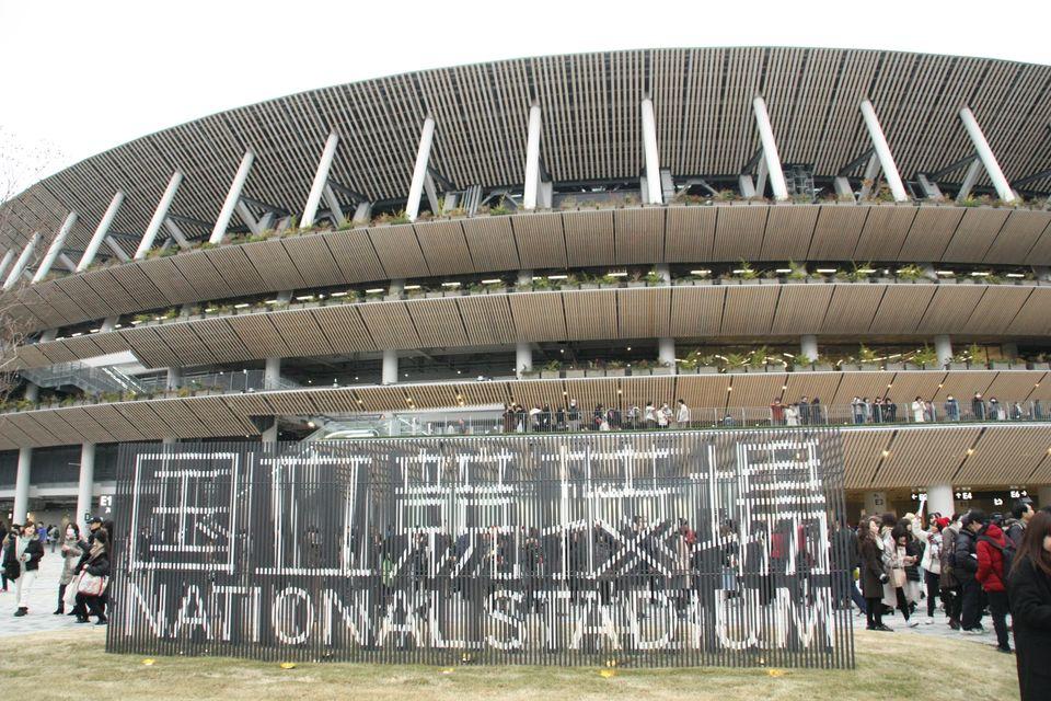 新国立競技場の正面