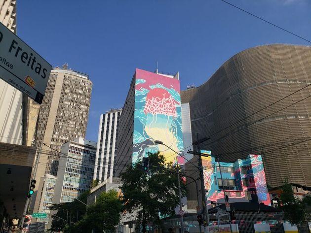 As pinturas de grafite revitalizam a paisagem urbana do centro de São