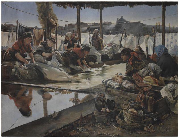 Lavadero en el Manzanares, de Eusebio Pérez